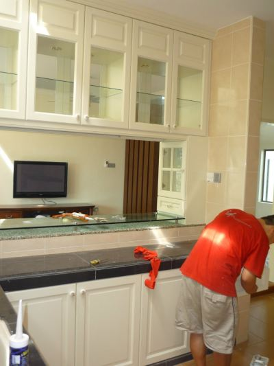 Fully Completed Kitchen Cabnet Refer In Malaysia Johor