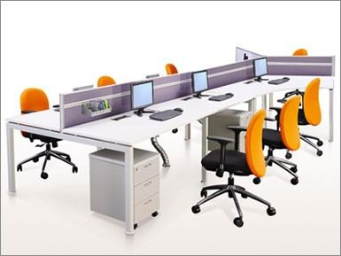 7 cluster Y and rectangular workstation with Rumex leg
