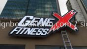 Gene Fitness 3D Led Frontlit Lettering Signage Signboard At Klang Kuala Lumpur  ALUMINIUM BIG 3D BOX UP LETTERING SIGNAGE