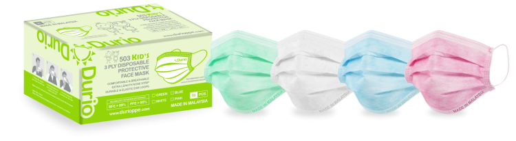 Durio 503 Kid's 3 Ply Disposable Protective Face Mask