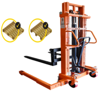 2 tons GEOLIFT High Performance Manual Hydraulic Straddle Legs Stacker - MSW2016