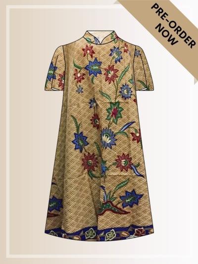 BTK(D)090 Batik A Line Midi Dress