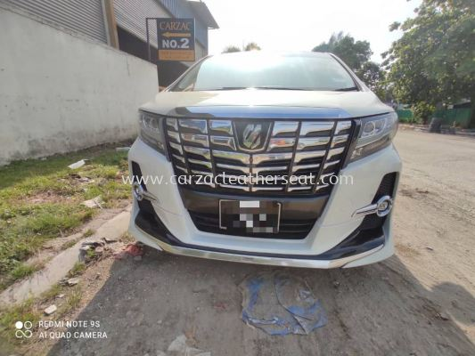 TOYOTA ALPHARD STEERING WHEEL REPLACE SYNTHETIC LEATHER