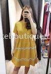 全绵娃娃裙连身裙 (黄色) 裙子