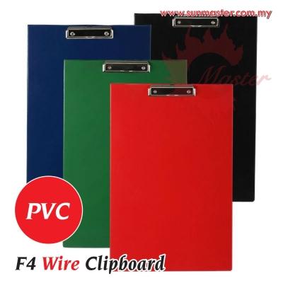 F4 PVC Wire Clipboard