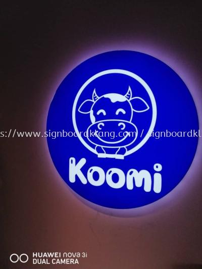 Koomi Round Shape Lightbox Signage Signboard At Klang Kuala Lumpur