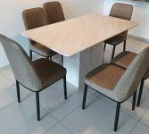 Marble table 1+6 seaters offer penang furniture