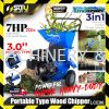 LANDWORKS LCE06 7HP 3″ 3in1 Portable Type Wood Chipper Machine 4-stroke  Wood Chipper Machine Agriculture & Gardening