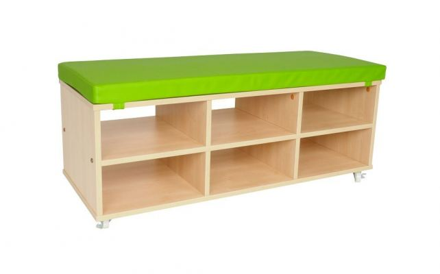 QWA038S Bench Storage With Cushion Seat