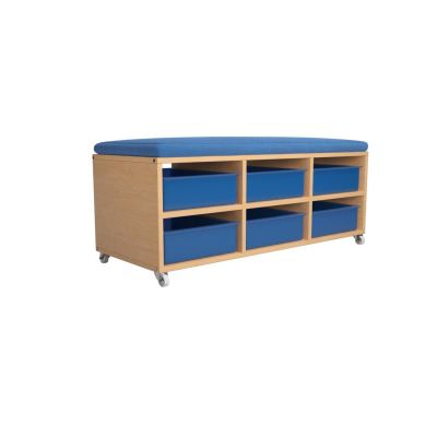 QWA038S-AD Bench Storage With Cushion Seat & Storage