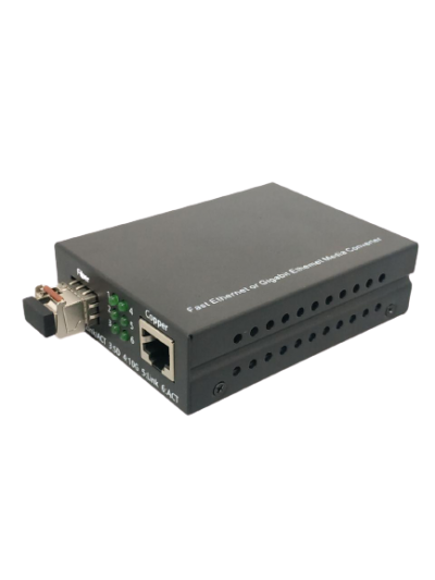 1000BASE CAT6(B) SINGLEMODE SINGLECORE (LC) MEDIA CONVERTER