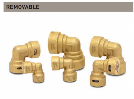 """ZoomLock Push Removable Elbows - 90 degree (7/8"""")"""