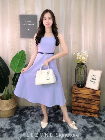 30331 Square Neck Simply Midi Dress