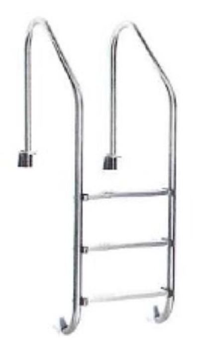 Jakmax 3 Step S.Steel 304 Ladder with Plastic Foot