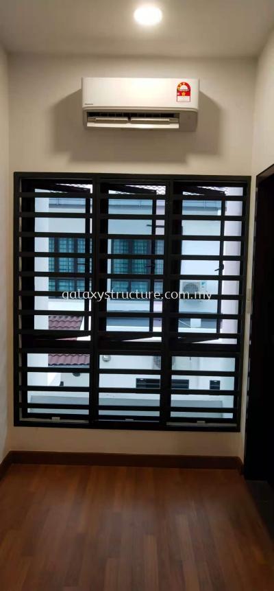 To Fabrication Mild Steel Powder Coated Window Grille @ Jalan Canggung 4/KU5, Persada Bandar Bukit Raja, 41050 Klang.