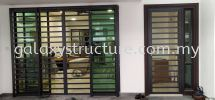 To Fabrication Mild Steel Powder Coated Sliding Door Grille @ Jalan Canggung 4/KU5, Persada Bandar Bukit Raja, 41050 Klang. Grill Door