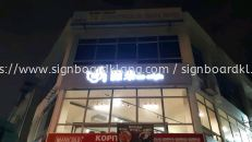 the origin aluminum box up 3d led frontlit lettrring and logo signage signboard at klang kuala lumpur