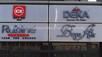 world one lighting aluminium box up 3d frontlit lettering signage signboard at klang kuala lumpur