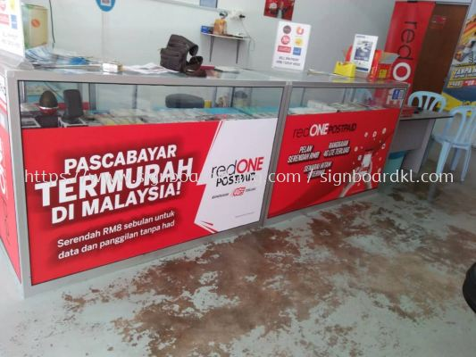 red one wallpaper printing signage signboard at klang kuala lumpur