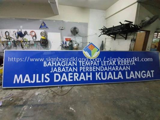 jabatan perbendaharaan metal g.i signage signboard at kuala langat