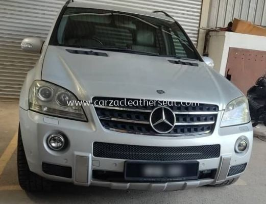 MERCEDES B-CLASS ML REPLACE LEATHER SEAT FROM LIGHT GREY TO MAROON