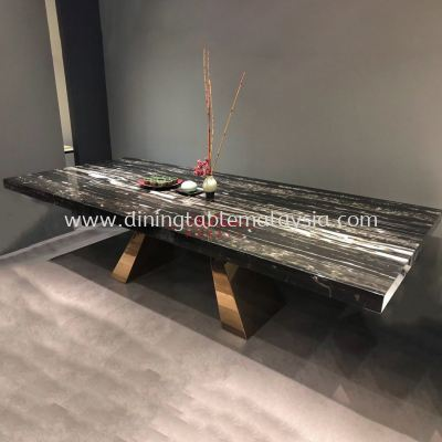 Silver Perlatino | China | 10 Seaters | Dining Table only | RM13,500