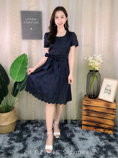 6959 Embroiderd Sleeved Dress