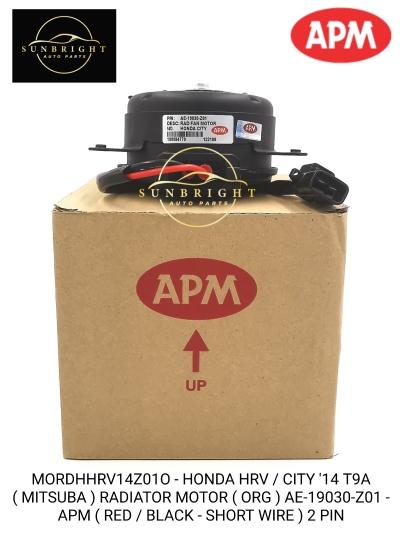 MORDHHRV14Z01O - HONDA HRV / CITY '14 T9A ( MITSUBA ) RADIATOR MOTOR ( ORG ) AE-19030-Z01 - APM ( RED / BLACK - SHORT WIRE ) 2 PIN
