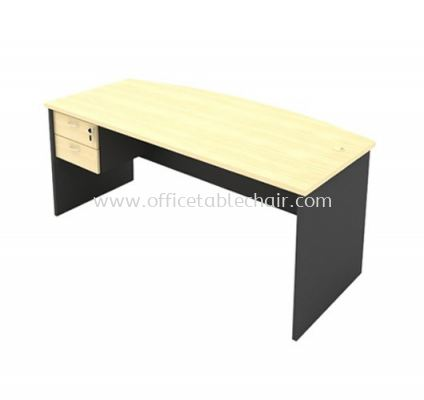 6FT WOODEN BASE EXECUTIVE CURVE TABLE WITH FIXED DRAWER 2D