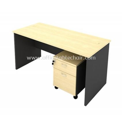 5FT WOODEN BASE RECTANGULAR TABLE WITH MOBILE PEDESTAL 1D1F