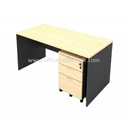5FT WOODEN BASE RECTANGULAR TABLE WITH MOBILE PEDESTAL 2D1F
