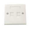 C - DOUBLE PORT FACE PLATE FACEPLATE Network