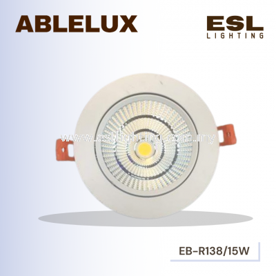 ABLELUX Round 15W LED Recessed Adjustable Spotlight 1350LUMEN POWER FACTOR 0.9 AC85-265V ISOLATED DRIVER