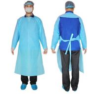 Non-Sterile Surgical  Disposable CPE Apron, With Long Sleeve  and Thumb Loops AAMI-3,  EN13795 Intertek Certified