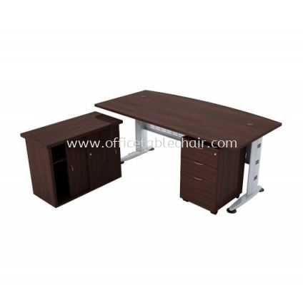 QAMAR 6' EXECUTIVE TABLE SET WITH CABINET AND 1 MOBILE 2D1F