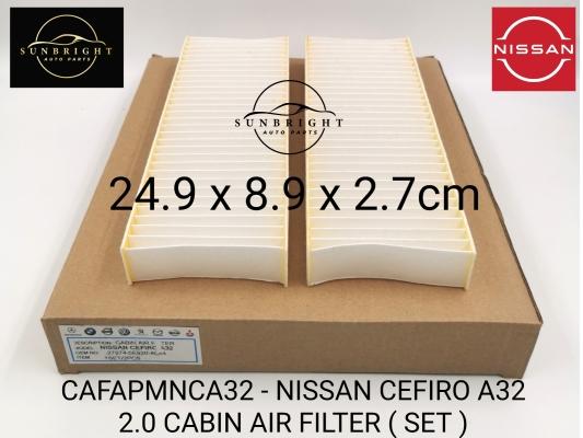 CAFAPMNCA32 - NISSAN CEFIRO A32 2.0 CABIN AIR FILTER ( SET )