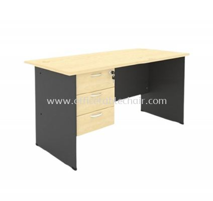 5FT WOODEN BASE EXECUTIVE TABLE WITH FIXED PEDESTAL 3D