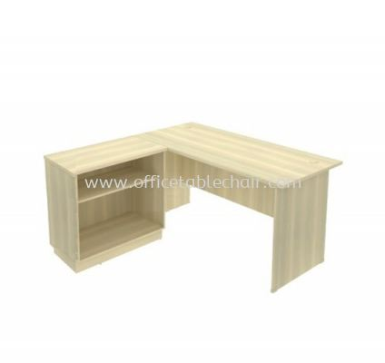5FT WRITING TABLEE WITH OPEN SHELF CABINET