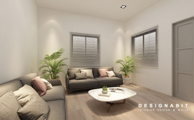 Living Hall 3D Design Drawing Refer From Perak Contractor