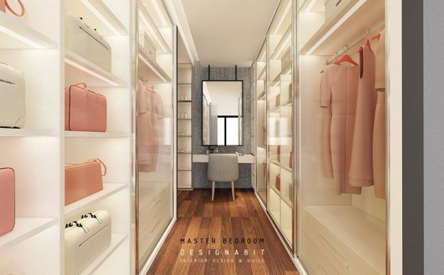 Built-in Wardrobe 3D Design Drawing Refer From Perak Contractor