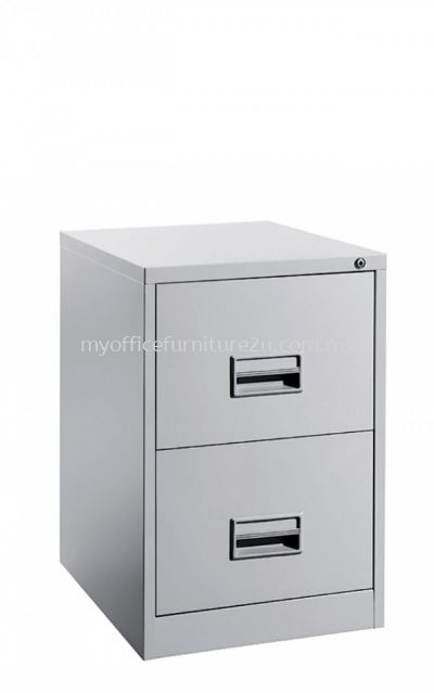 S106/CB Filing Cabinet 2 Drawer with Recess Handle & Ball Bearing Slide (Light Grey)