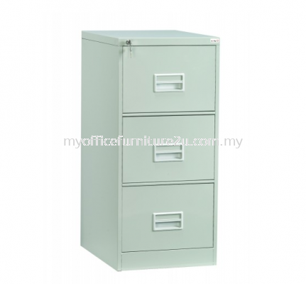 S106/BB Filing Cabinet 3 Drawer with Recess Handle & Ball Bearing Slide (Light Grey)