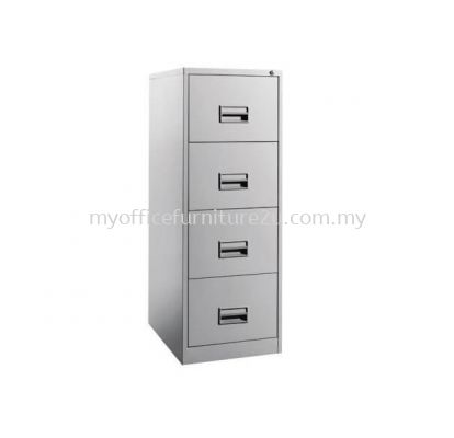 S106/AB Filing Cabinet 4 Drawer with Recess Handle & Ball Bearing Slide (Light Grey)