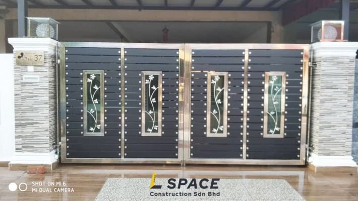 Already Done Stainless Steel Mix Main Gate Design Refer