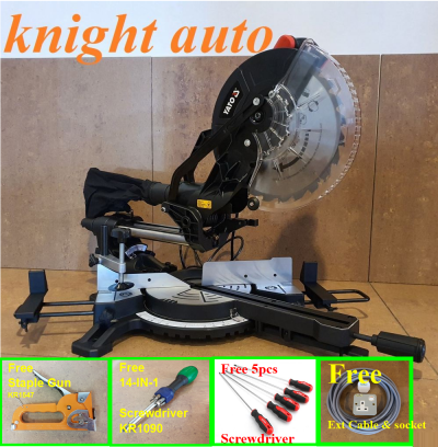 FreeGifts- Yato 255mm YT82173 / YT82173SB 1800W Sliding Mitre Saw with Laser Guide ID31752