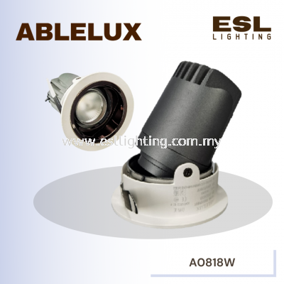 ABLELUX 18W RECESSED ADJUSTABLE SPOT DOWNLIGHT 900LUMEN POWER FACTOR 0.9 AC85-285V ISOLATED DRIVER