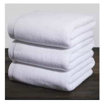 100% Cotton plain white bath towel Size 27��x 54��  and 30��x 60""