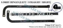 """[9.0MM X 24"""" X ø 1/2""""] LORRY HINGES 9.0MM X 24"""" X  1/2"""" LORRY HINGES [LEFT/STRAIGHT/RIGHT] LORRY HINGES"""