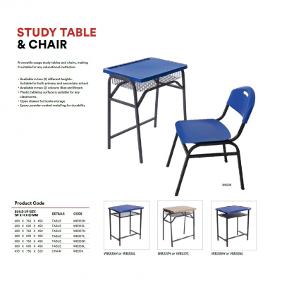 WB335H Study Table