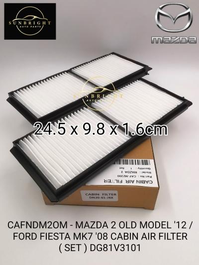 CAFNDM2OM - MAZDA 2 OLD MODEL '12 / FORD FIESTA MK7 '08 CABIN AIR FILTER ( SET ) DG81V3101